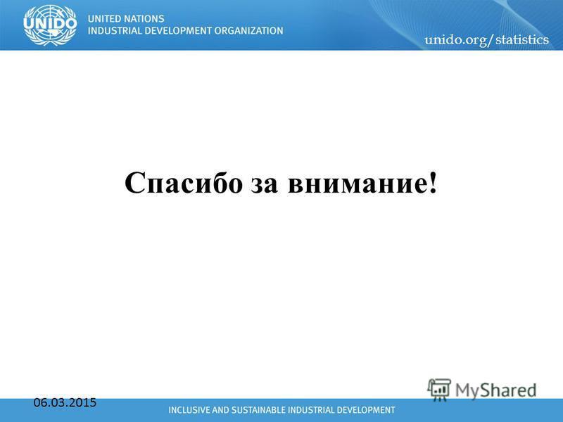 unido.org/statistics 06.03.2015 Спасибо за внимание!