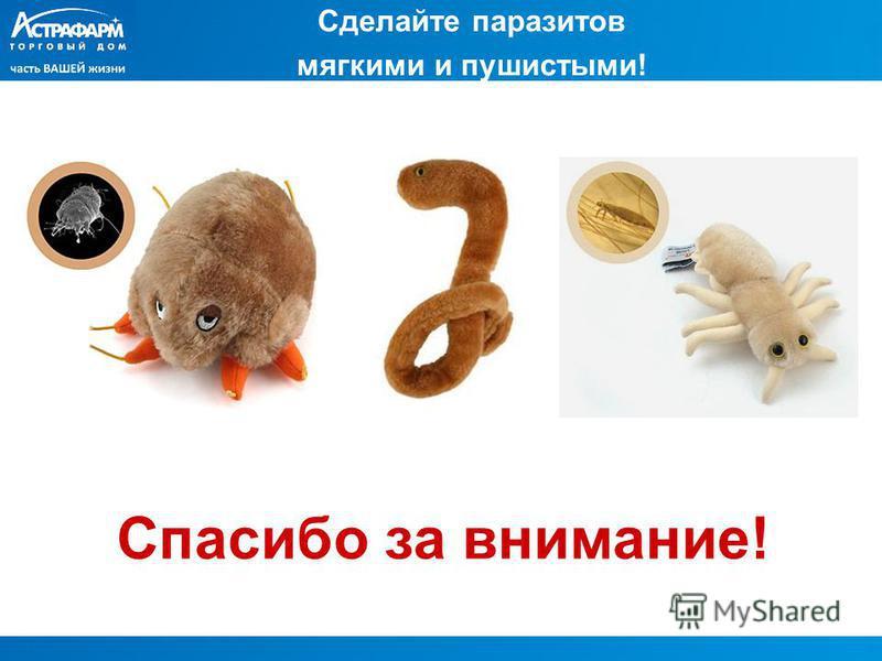 Сделайте паразитов мягкими и пушистыми! Спасибо за внимание!