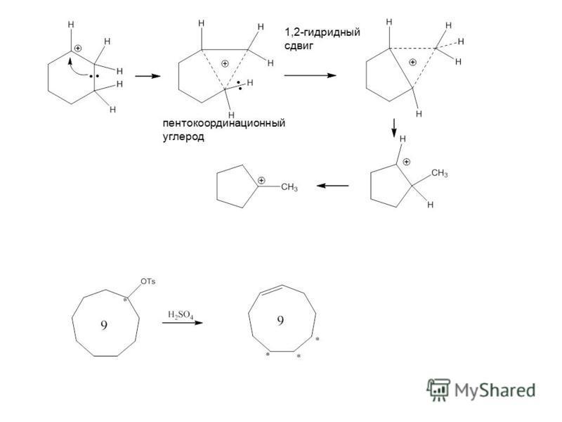 пента координационный углерод 1,2-гибридный сдвиг