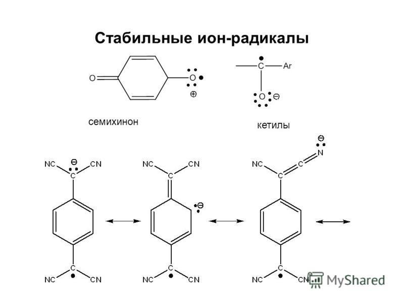 Стабильные ион-радикалы семихинон текилы