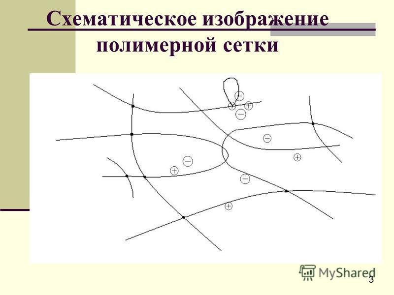 Схематическое изображение полимерной сетки 3