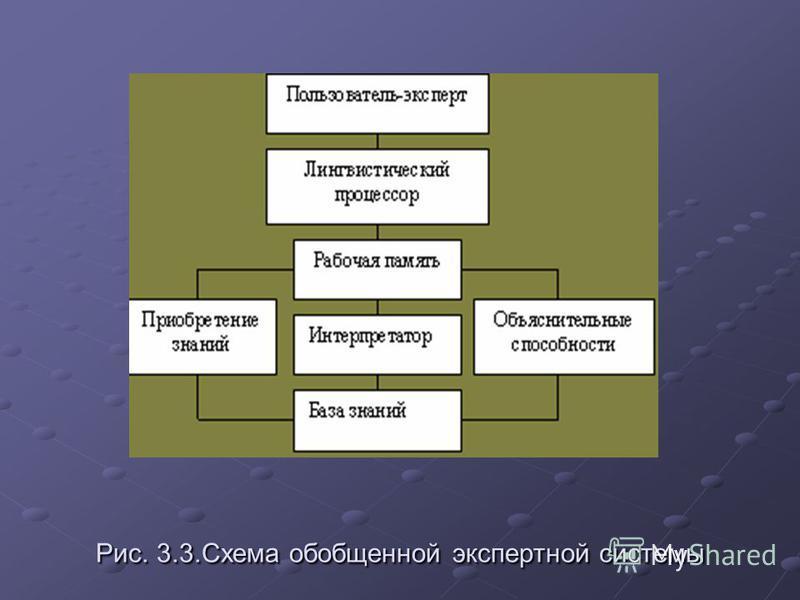 Рис. 3.3. Схема обобщенной экспертной системы
