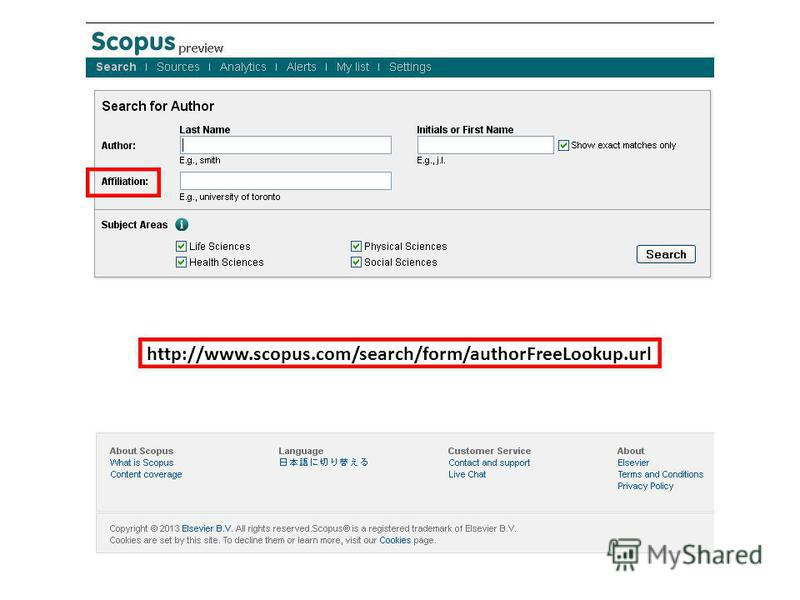 http://www.scopus.com/search/form/authorFreeLookup.url