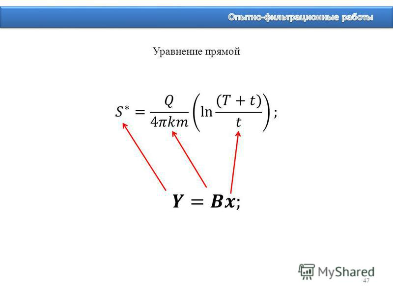 Уравнение прямой 47