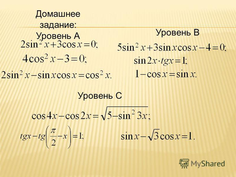 Домашнее задание: Уровень А Уровень В Уровень С
