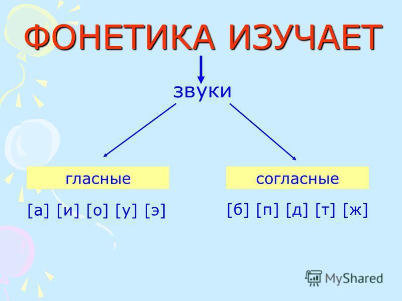 ФОНЕТИКА ИЗУЧАЕТ звуки гласные согласные [а] [и] [о] [у] [э][а] [и] [о] [у] [э] [б] [п] [д] [т] [ж][б] [п] [д] [т] [ж]