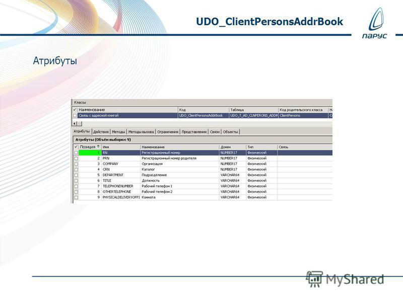 Атрибуты UDO_ClientPersonsAddrBook
