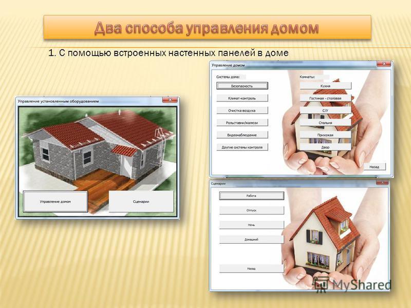 1. С помощью встроенных настенных панелей в доме