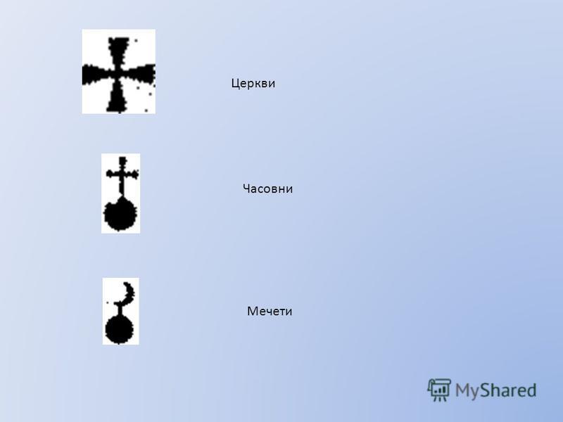 Церкви Часовни Мечети