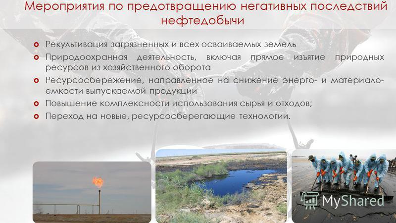 Рекультивация загрязненных и всех осваиваемых земель Природоохранная деятельность, включая прямое изъятие природных ресурсов из хозяйственного оборота Ресурсосбережение, направленное на снижение энерго- и материалоемкости выпускаемой продукции Повыше