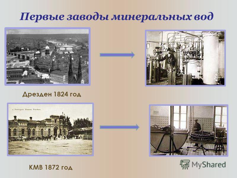 Первые заводы минеральных вод Дрезден 1824 год КМВ 1872 год