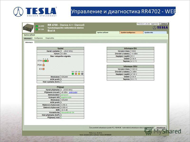 Slaboproudé montáže Управление и диагностика RR4702 - WEB