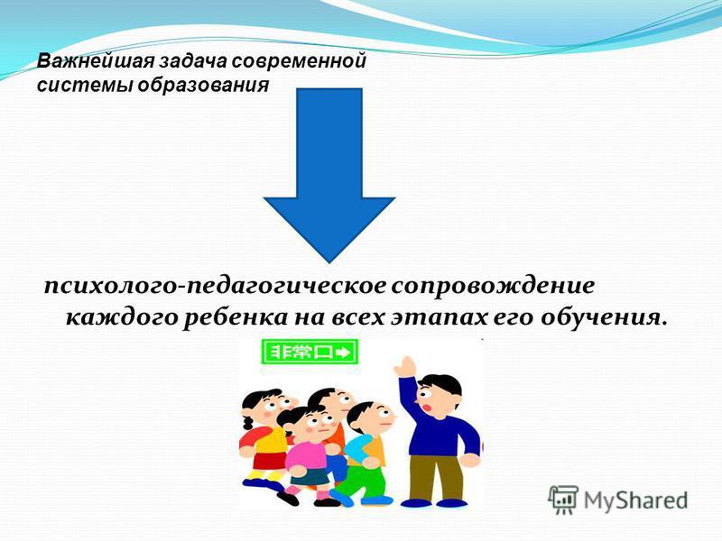 Важнейшая задача современной системы образования психолого-педагогическое сопровождение каждого ребенка на всех этапах его обучения.