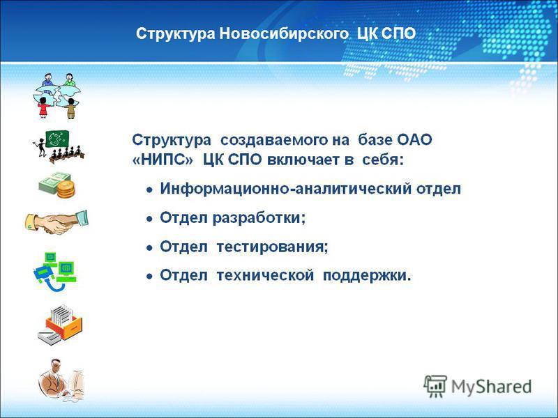 Структура Новосибирского ЦК СПО
