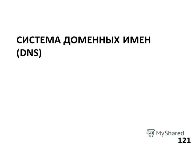 СИСТЕМА ДОМЕННЫХ ИМЕН (DNS) 121