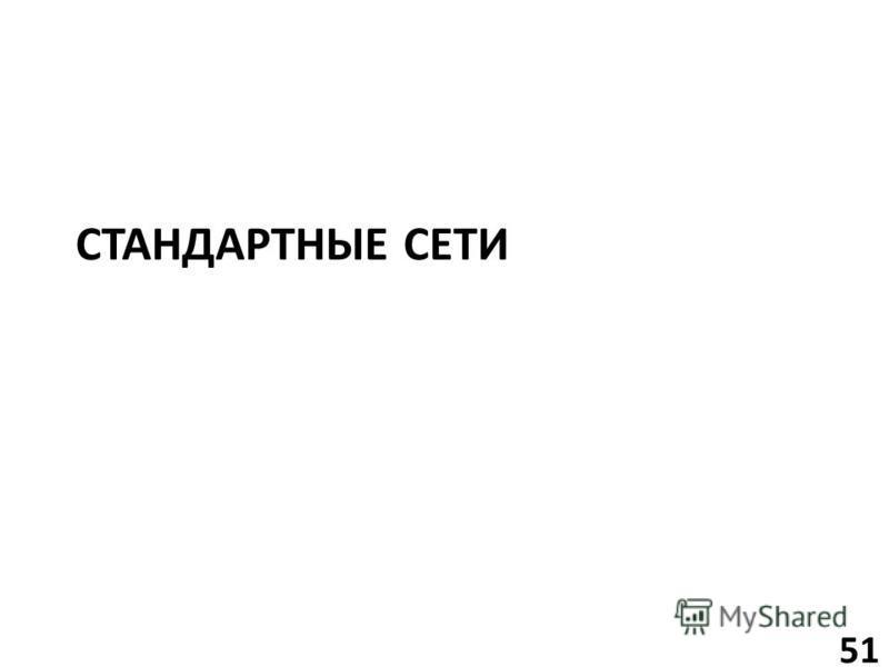 СТАНДАРТНЫЕ СЕТИ 51