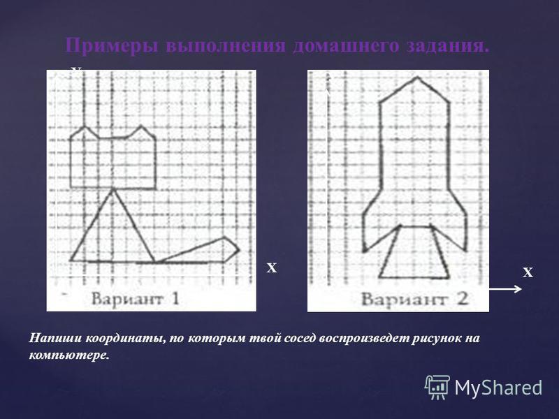 Домашнее задание §7 стр.50- 52 Творческое задание. Создать рисунок в декартовой системе координат.