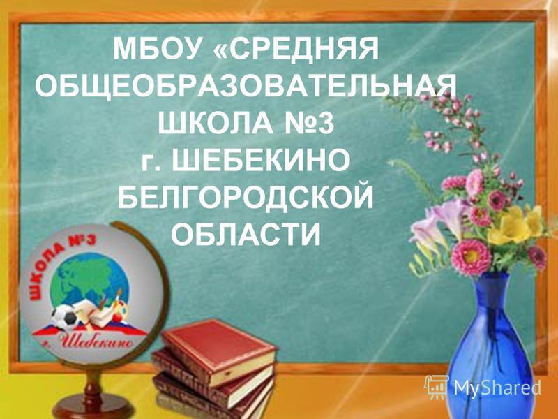 МБОУ «СРЕДНЯЯ ОБЩЕОБРАЗОВАТЕЛЬНАЯ ШКОЛА 3 г. ШЕБЕКИНО БЕЛГОРОДСКОЙ ОБЛАСТИ