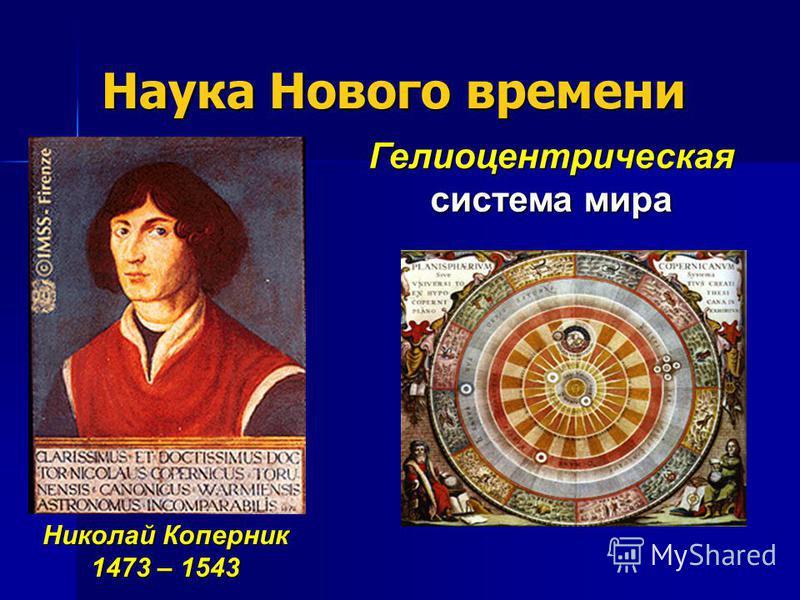 Наука Нового времени Николай Коперник 1473 – 1543 Гелиоцентрическая система мира