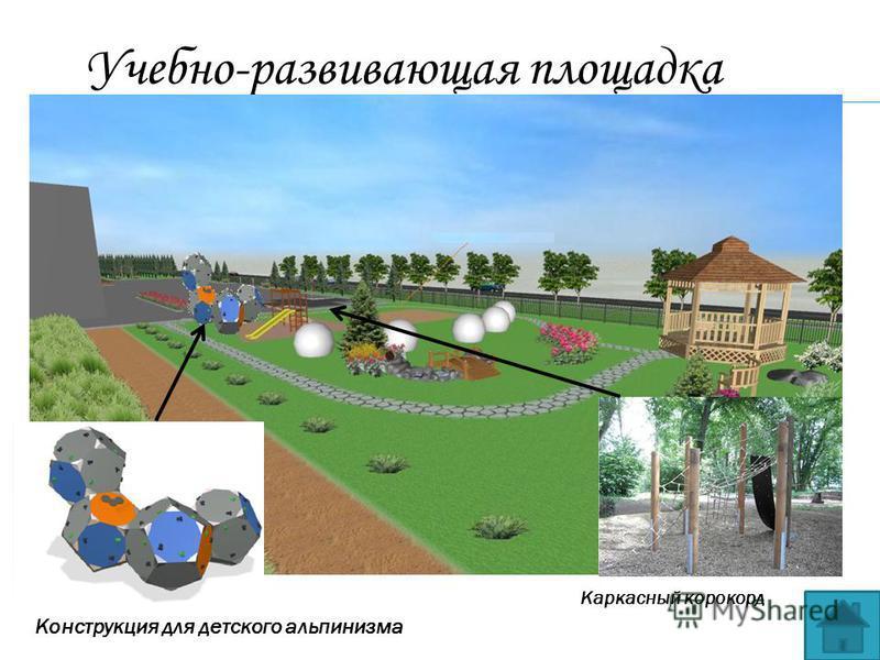 Учебно-развивающая площадка Каркасный конкорд Конструкция для детского альпинизма