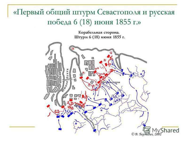 «Первый общий штурм Севастополя и русская победа 6 (18) июня 1855 г.»