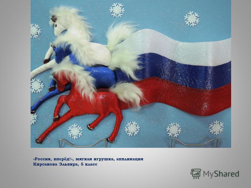«Россия, вперёд!», мягкая игрушка, аппликация Кирсанова Эльвира, 5 класс