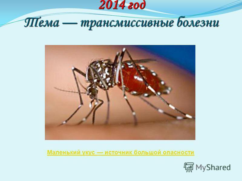2014 год Тема трансмиссивные болезни Маленький укус источник большой опасности