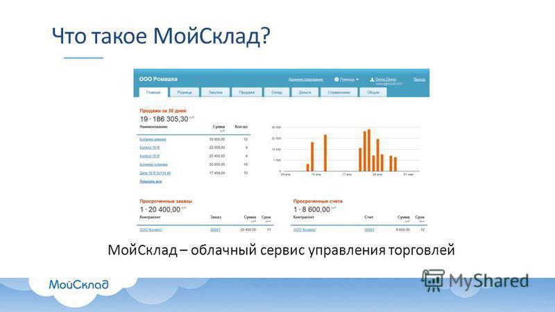 Что такое Мой Склад? Мой Склад – облачный сервис управления торговлей