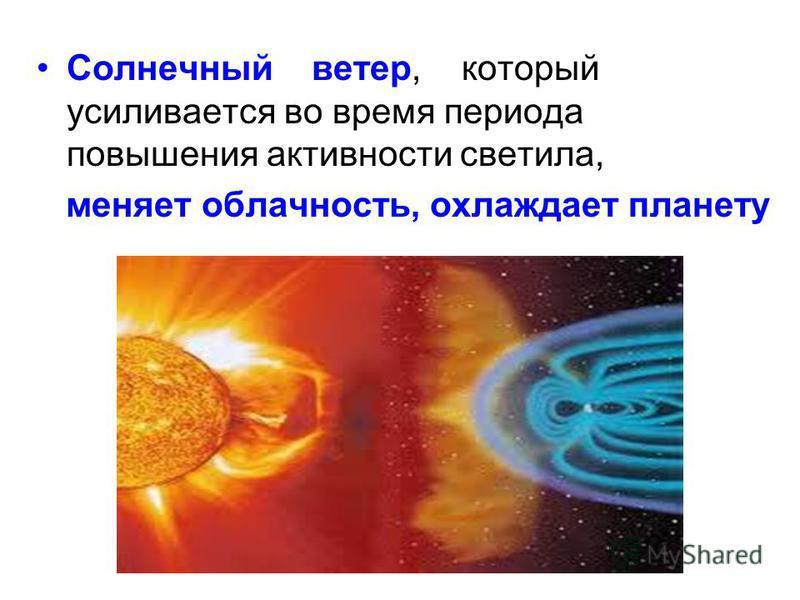 Солнечный ветер, который усиливается во время периода повышения активности светила, меняет облачность, охлаждает планету