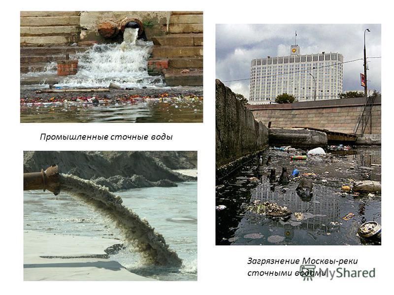 Загрязнение Москвы-реки сточными водами Промышленные сточные воды
