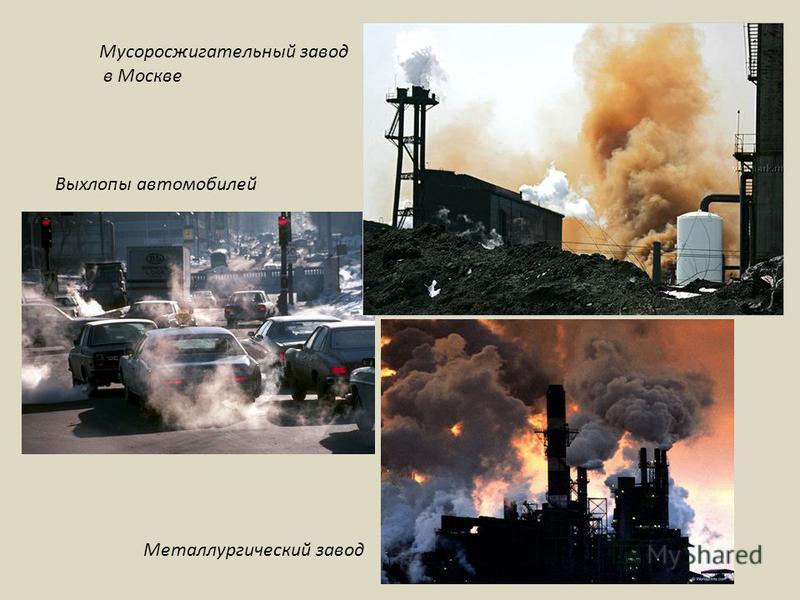 Мусоросжигательный завод в Москве Выхлопы автомобилей Металлургический завод