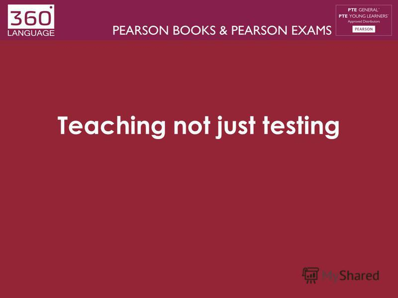 Teaching not just testing