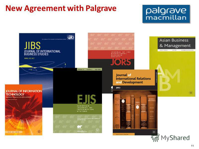 11 New Agreement with Palgrave