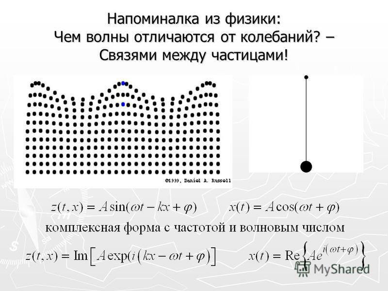 Напоминалка из физики: Чем волны отличаются от колебаний? – Связями между частицами!