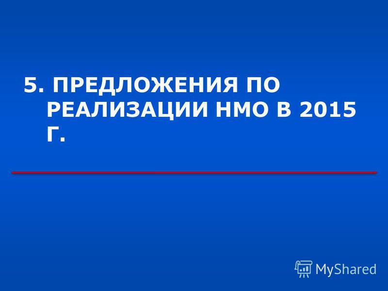5. ПРЕДЛОЖЕНИЯ ПО РЕАЛИЗАЦИИ НМО В 2015 Г.