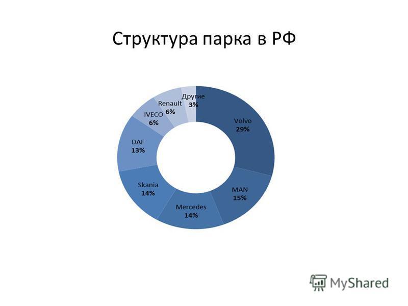 Структура парка в РФ