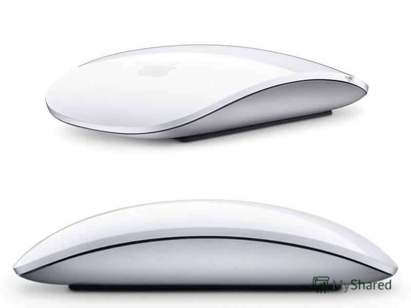 В 2009 году фирмой Apple представлена мышь Magic Mouse, являющаяся первой в мире мышью с сенсорным управлением и поддержкой технологии мультитач. Вместо кнопок, колёсиков и прочих элементов управления в этой мыши используется сенсорный тачпад, позвол
