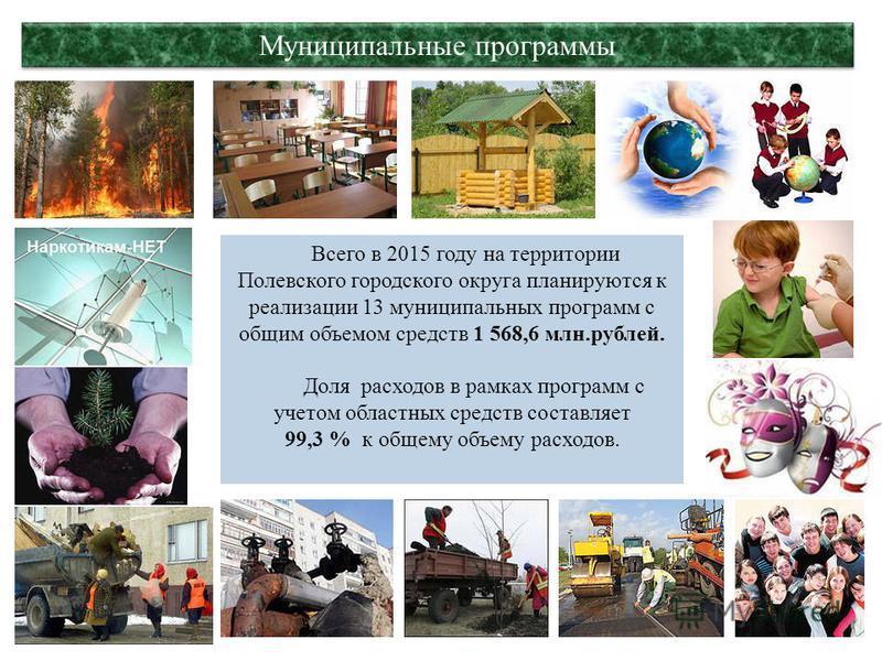 30 Средства массовой информации В 2015 году расходы на средства массовой информации составят 2,5 млн.рублей на предоставление субсидии муниципальному бюджетному учреждению «Редакция газеты «Диалог» в рамках МП «Совершенствование муниципального управл