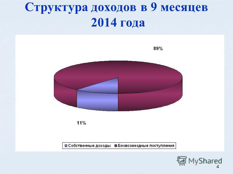 4 Структура доходов в 9 месяцев 2014 года
