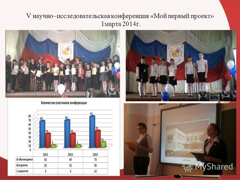 V научно–исследовательская конференция «Мой первый проект» 1 марта 2014 г.