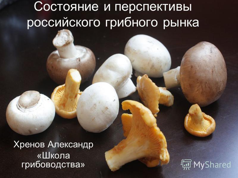 Состояние и перспективы российского грибного рынка Хренов Александр «Школа грибоводства»