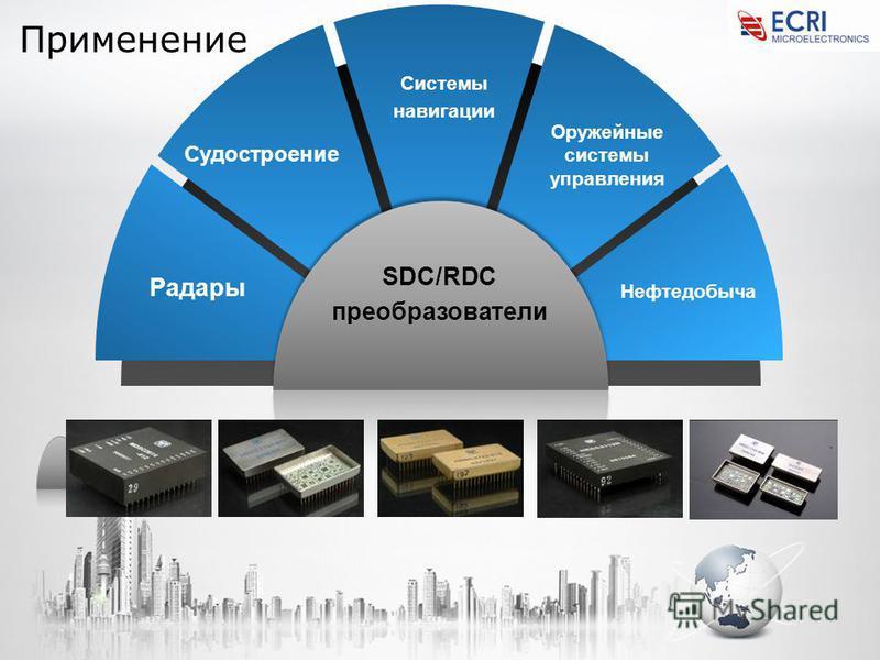 Применение SDC/RDC преобразователи Системы навигации Оружейные системы управления Невтедобыча Судостроение Радары