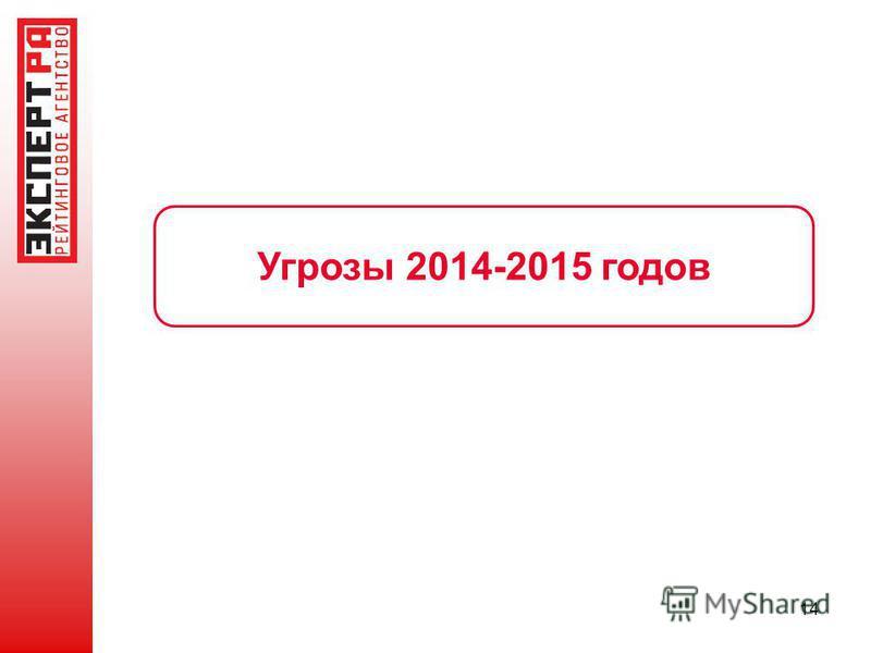 14 Угрозы 2014-2015 годов