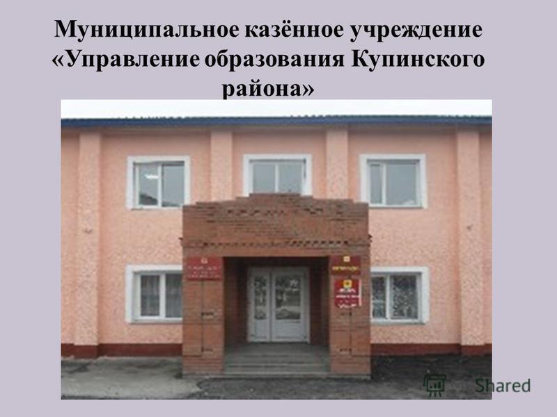 Муниципальное казённое учреждение «Управление образования Купинского района»