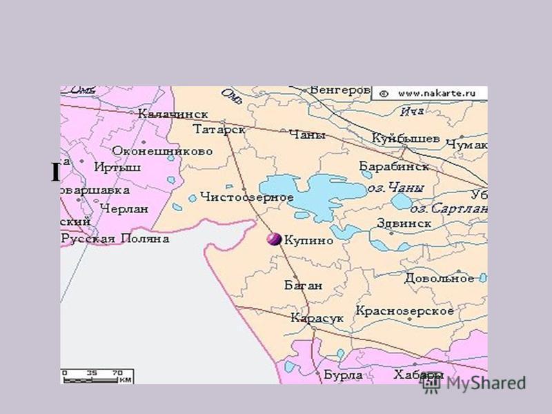 Географическое положение города Купино