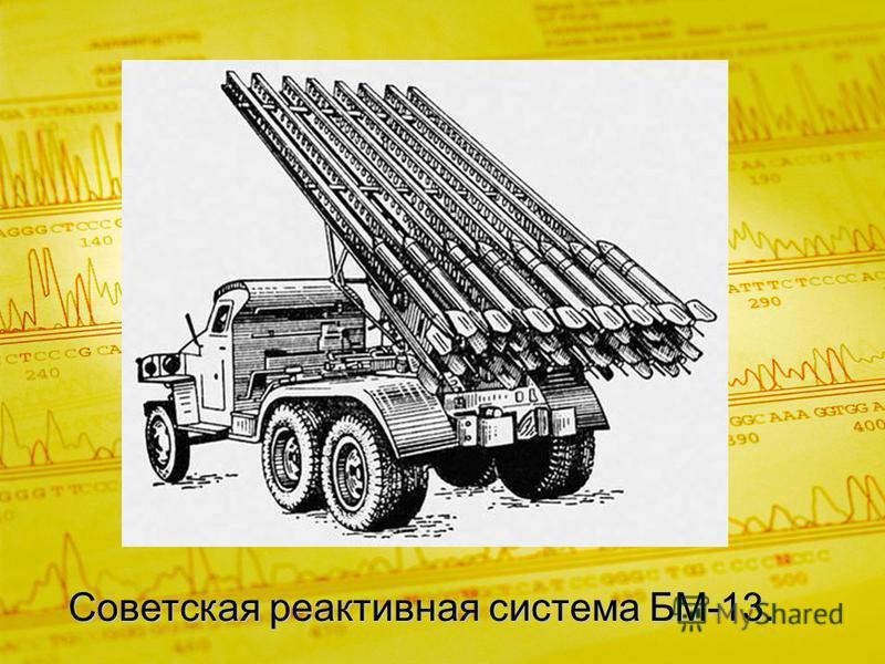 Советская реактивная система БМ-13.