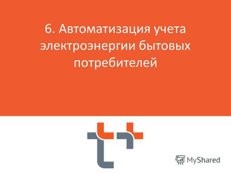 я 6. Автоматизация учета электроэнергии бытовых потребителей