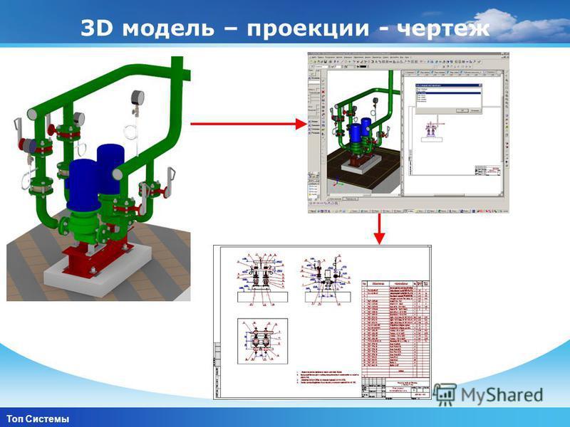 www.themegallery.com Company Logo 3D модель – проекции - чертеж Топ Системы