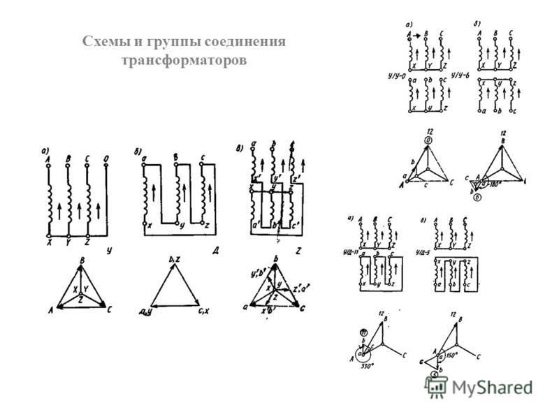 Схемы и группы соединения трансформаторов