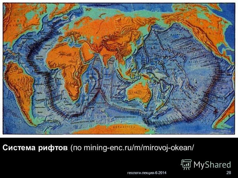 геологи-лекция-6-2014 28 Система рифтов (по mining-enc.ru/m/mirovoj-okean/